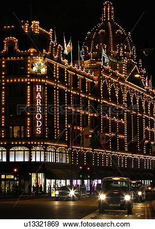 Stock Photograph of England, London, Knightsbridge. Harrods.