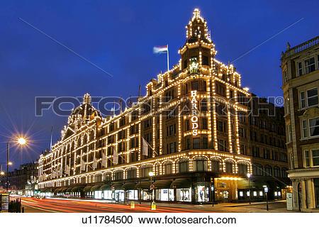 Stock Photography of England, London, Knightsbridge, Traffic.