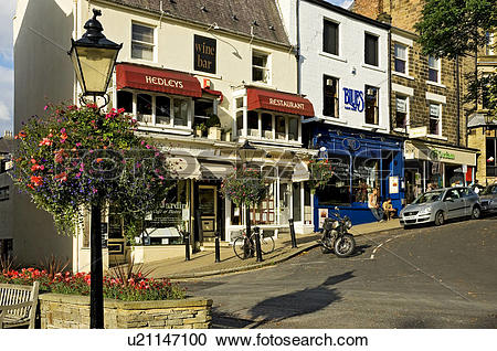 Stock Photography of England, North Yorkshire, Harrogate. Lamp.