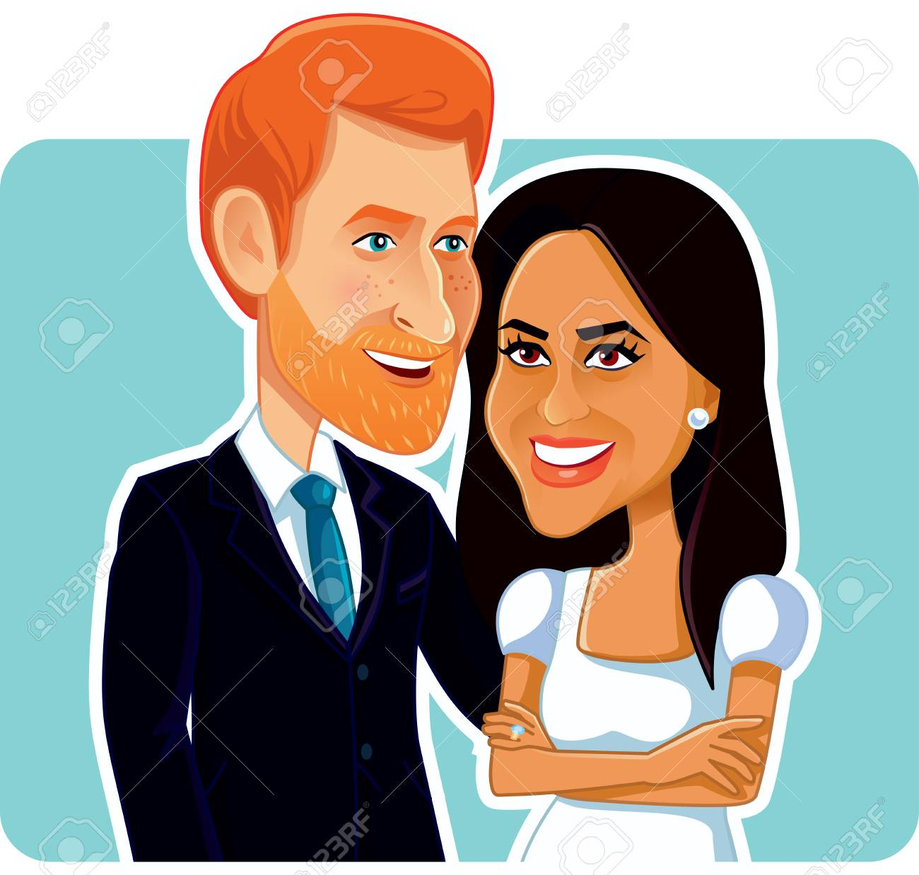 Harry and meghan clipart 1 » Clipart Station.