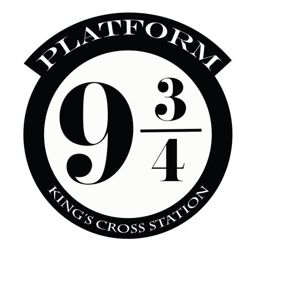 10 INCH Assorted Wall Decal HARRY POTTER Platform 9 3/4 King's Cross.