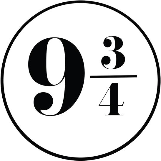 Platform 9 3/4 Font.