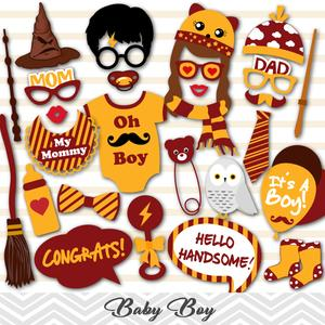 Harry Potter Boy Baby Shower Photo Booth Props, Printable Harry Potter Baby  Boys PhotoBooth Props, 0058.