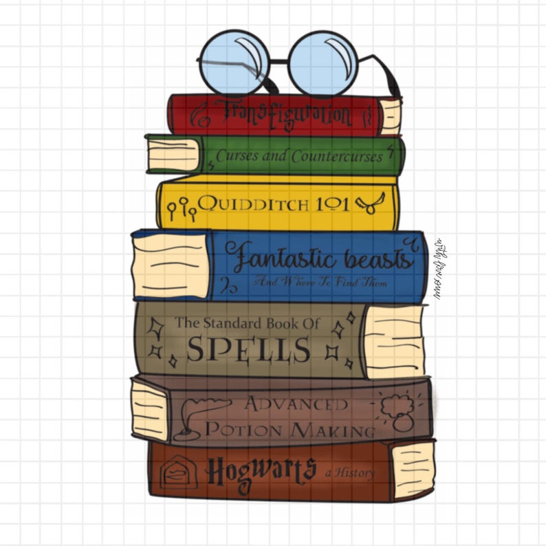 Harry Potter Book Stack *Digital.