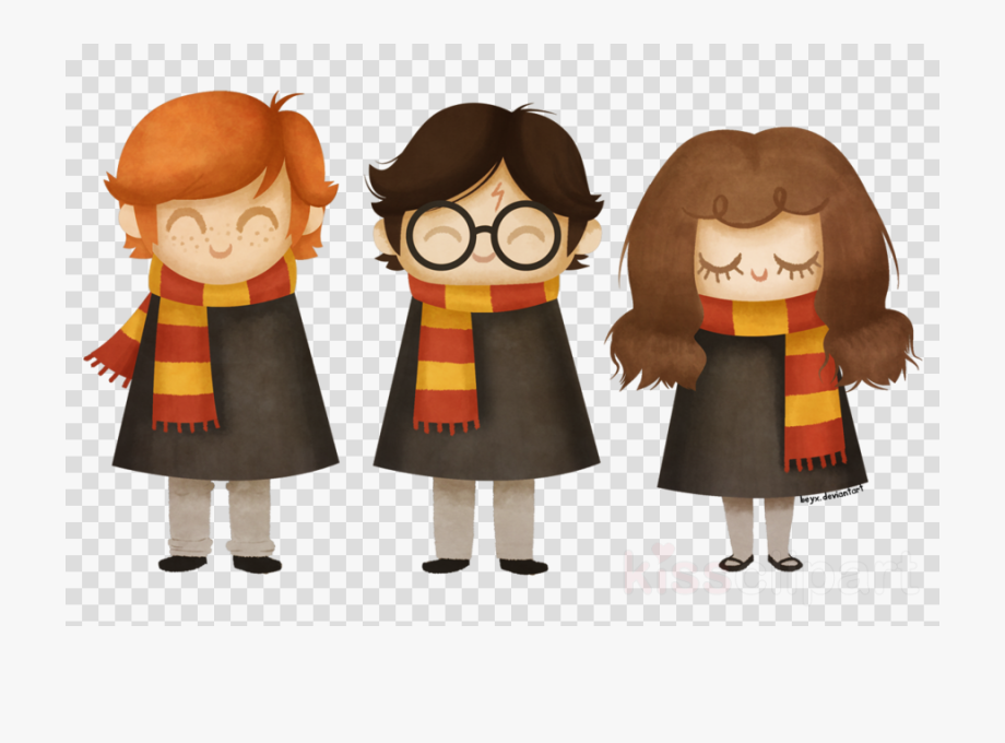 Harry Potter Transparent Cute Clipart Ron Weasley Hermione.