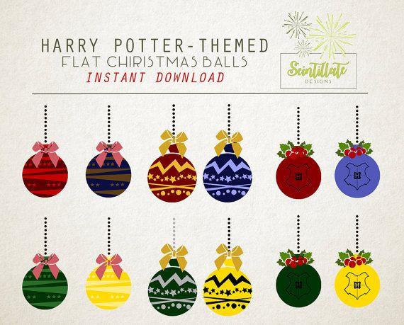 Christmas Clip Art: Hogwarts harry potter by SctintillateDesigns.