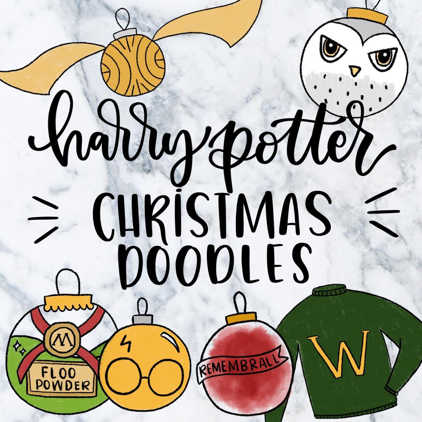 Harry Potter Christmas Doodle Bundle.