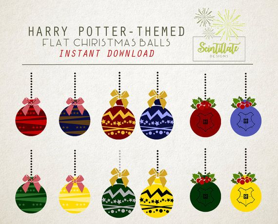 Christmas Clip Art: Hogwarts harry potter by SctintillateDesigns.