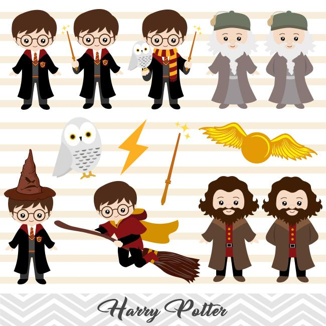 Harry Potter Digital Clipart, Harry Potter Clip Art, 00090.