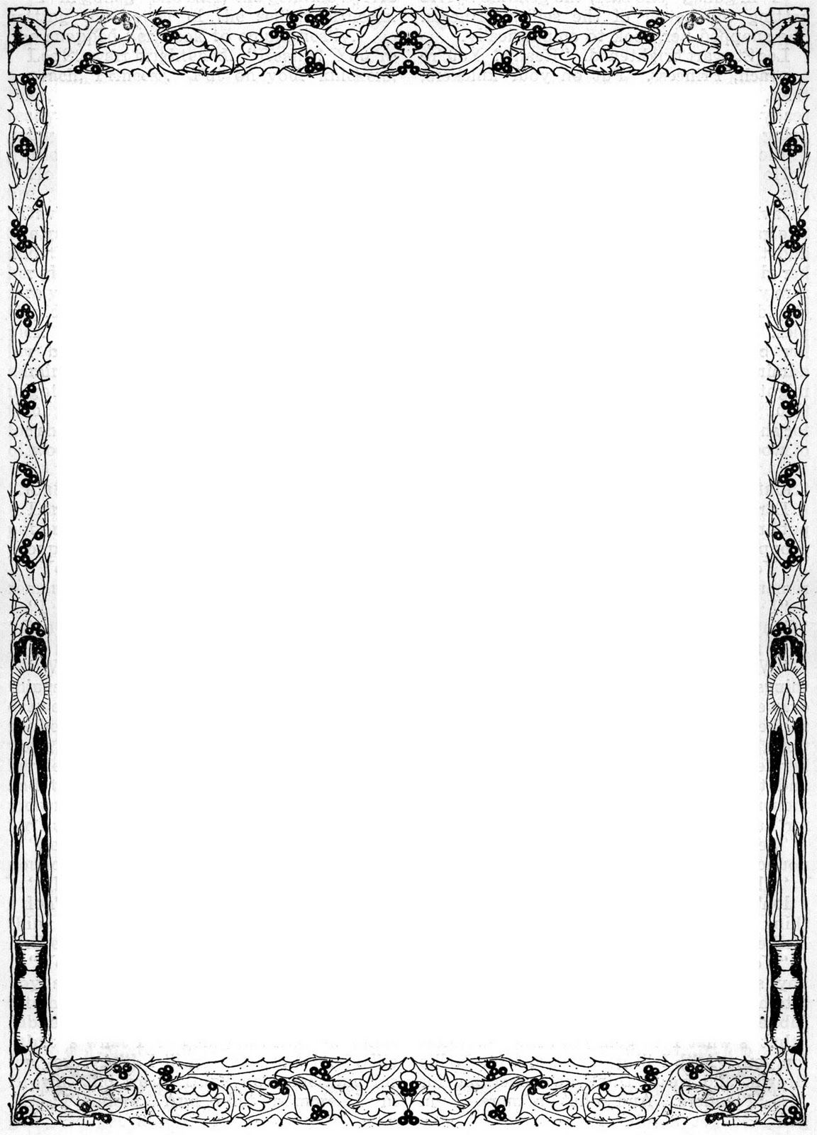 free decorative document borders.