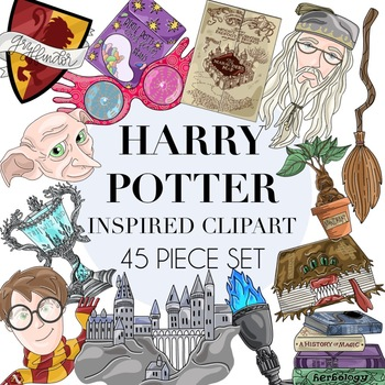 Harry Potter Inspired Clipart 45 Piece Set by Taracotta Sunrise.