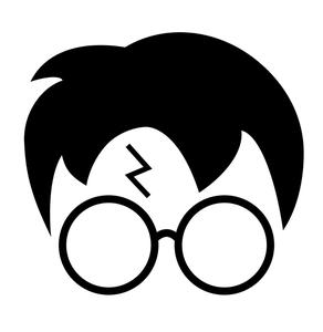 Harry Potter SVG, Glasses, Scar, Wizard, Harry Potter Clipart, PNG, Dxf,  Cutting File, Silhouette Cameo, Cricut.