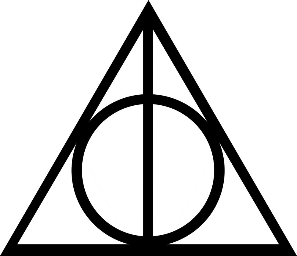 Details about Harry Potter Vinyl Car Window Decal Deathly Hallows.