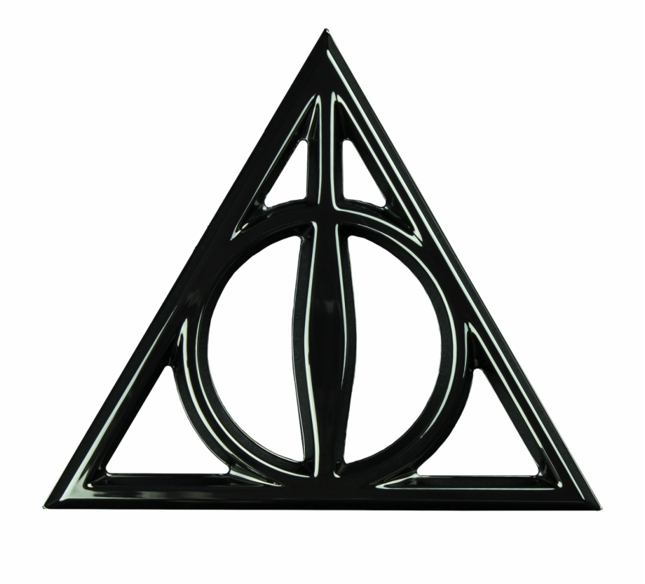 Deathly Hallows 3D Black Chrome Premium Emblem Harry.