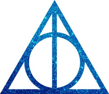 Harry Potter Clip Art / The Deathly Hallows Glitter Clip Art.