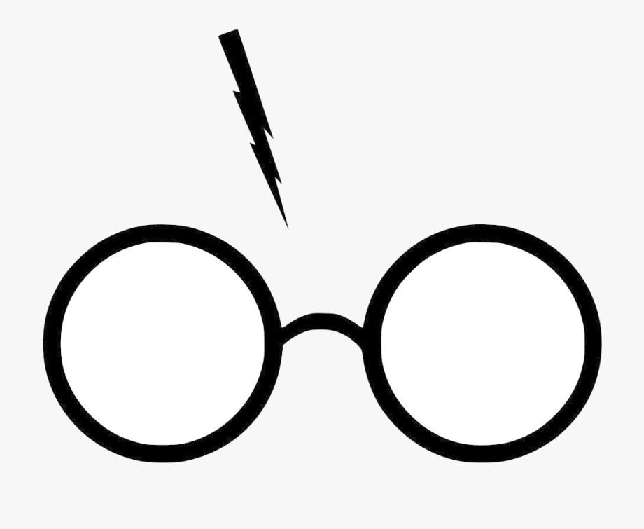 Harry Potter Glasses And Lightning Bolt Png , Transparent.