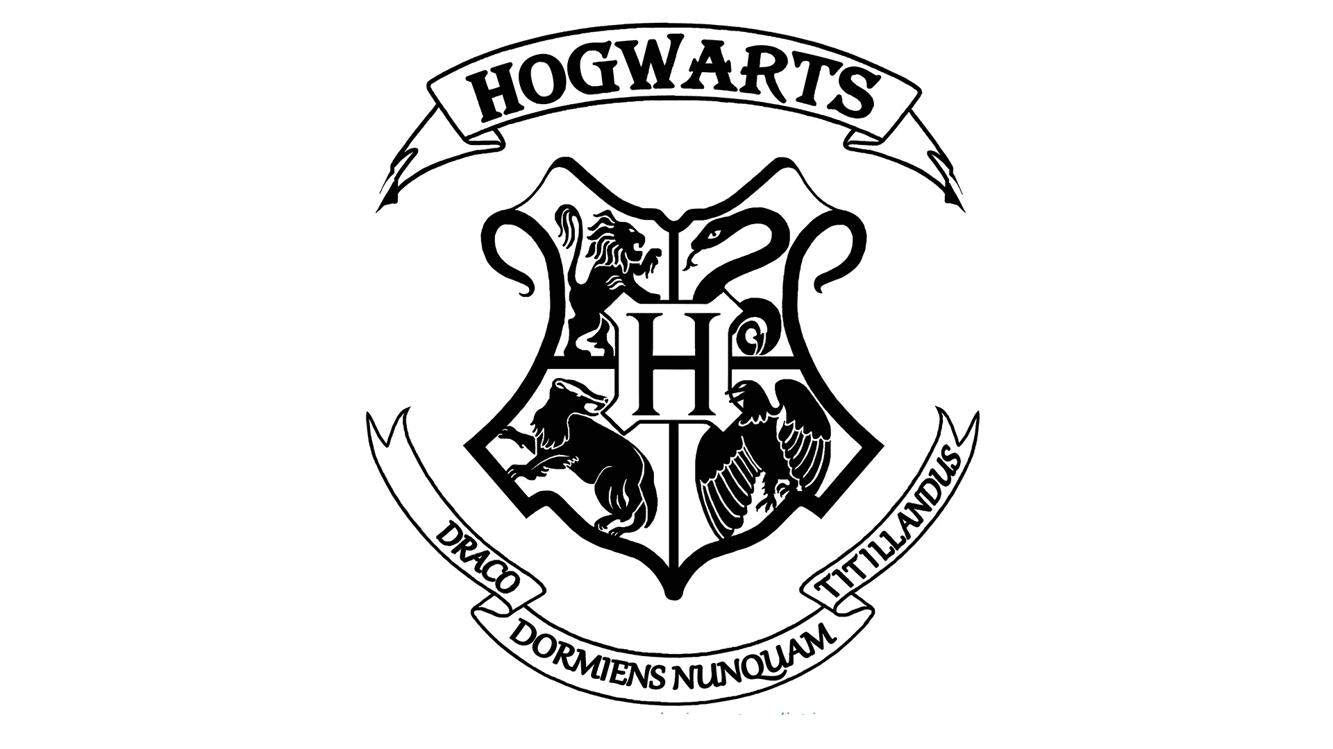 Meaning Hogwarts logo and symbol.