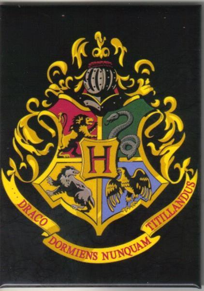 Details about Harry Potter Hogwarts School Logo Crest Refrigerator Magnet  NEW UNUSED.