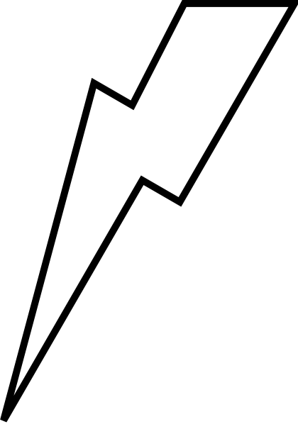 Lightening Bolt clip art.