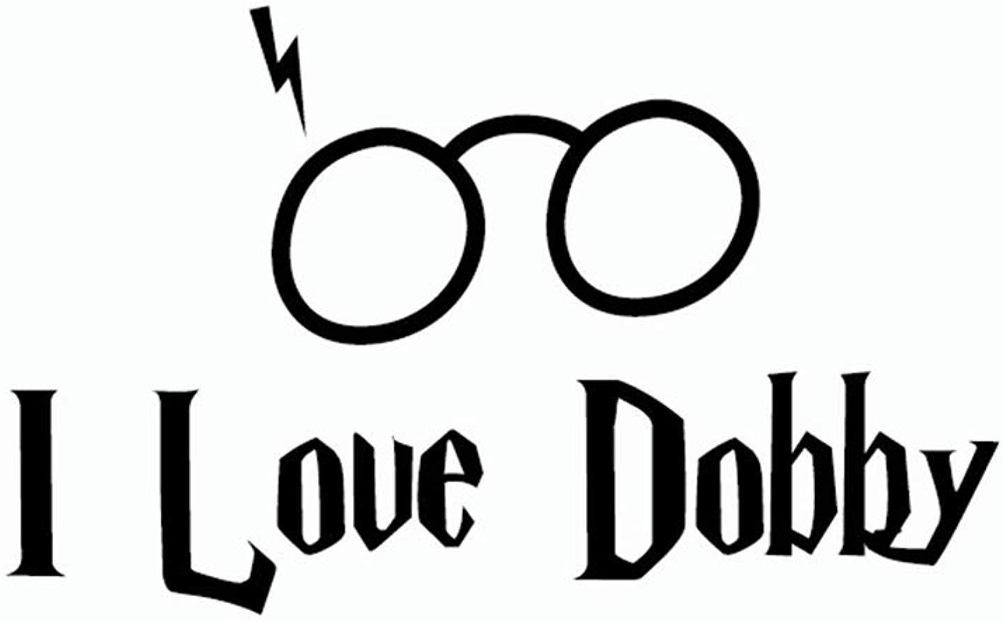 Amazon.com: Harry Potter Wall Sticker I Love Dobby Elf.