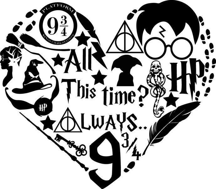 Harry Potter Heart, Patronus, Accio, Hogwarts so I\'m leaving.