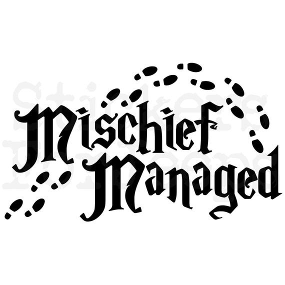 Mischief Managed vinyl decal / sticker over 40 colors Harry.