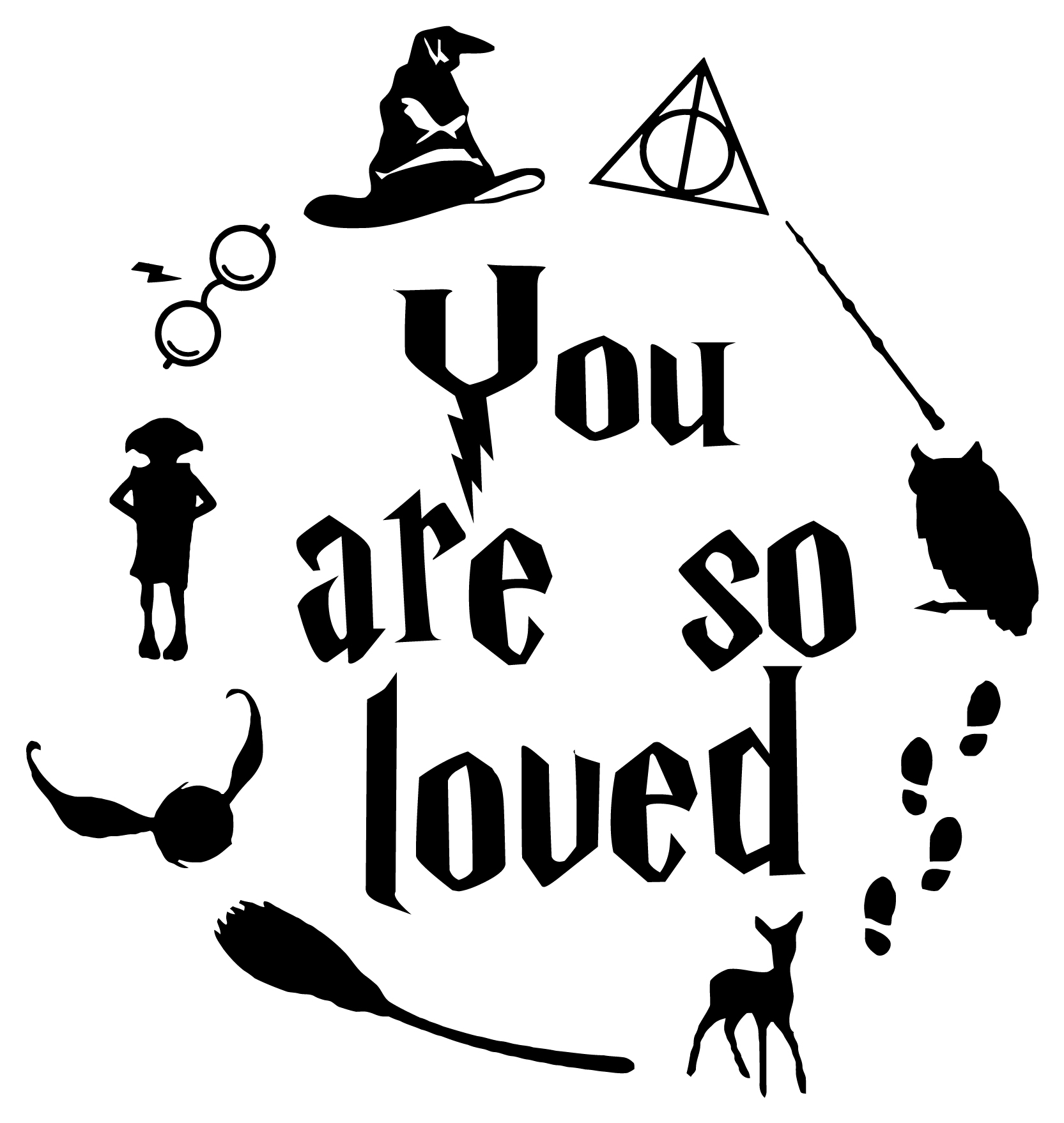 Harry Potter Wall Sticker Quote You are So Loved..