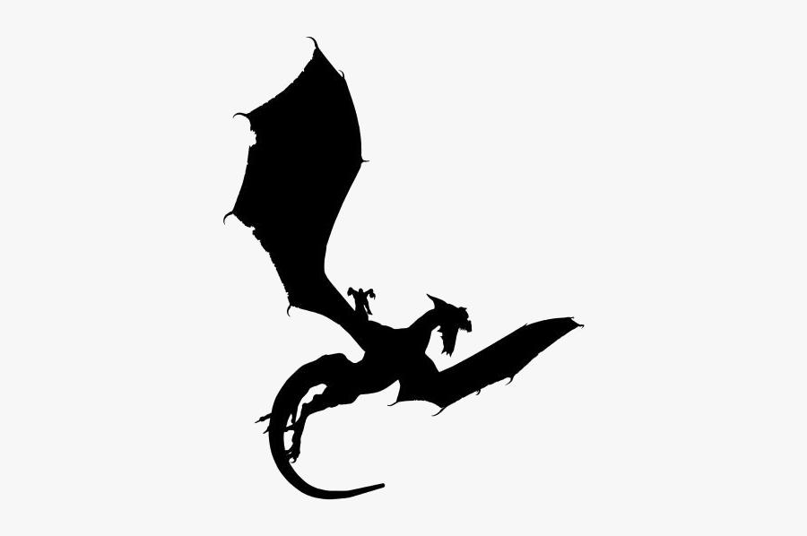 Dragon Attacking Silhouette.