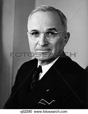 Stock Photography of 1940S Portrait Harry S. Truman 33Rd American.