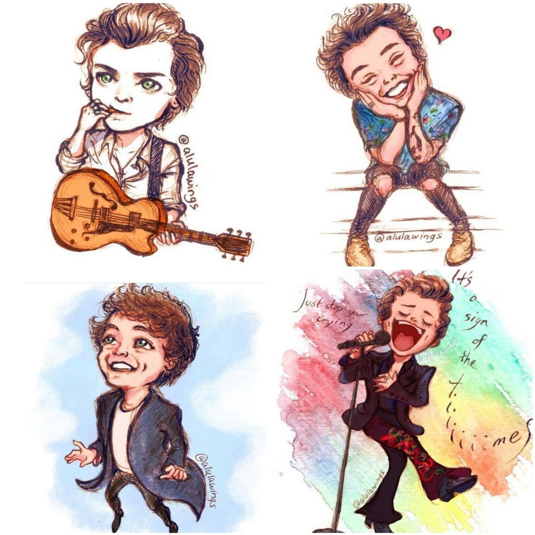 Harry styles fan art in 2019.