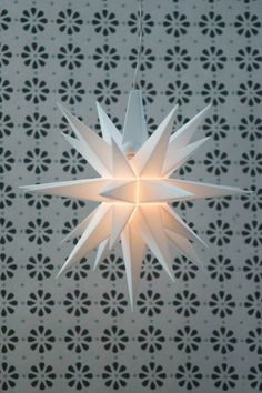 This Moravian Star in the Central Moravian Church Belfry.