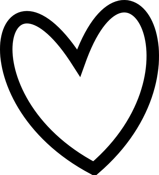 Heart black and white heart black and white heart clipart hearts 4.