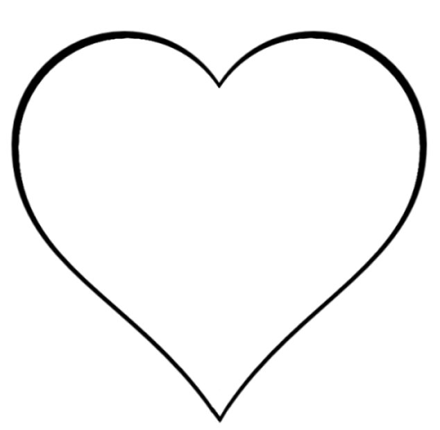 Heart shaped outline clipart.