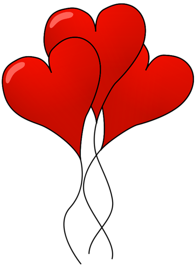 Heart Shaped Balloons Clipart.