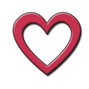 Heart shaped outline clip art free.