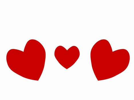 Heart shaped clip art.