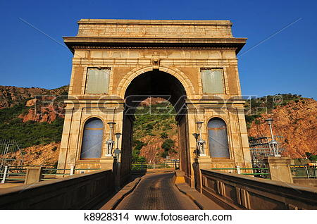 Stock Photo of Hartbeespoort Dam Arch k8928314.