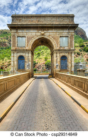 Stock Photo of Hartbeespoort Dam Arch in Pretoria, South Africa.