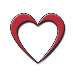 Red Heart Shape Clip Art.