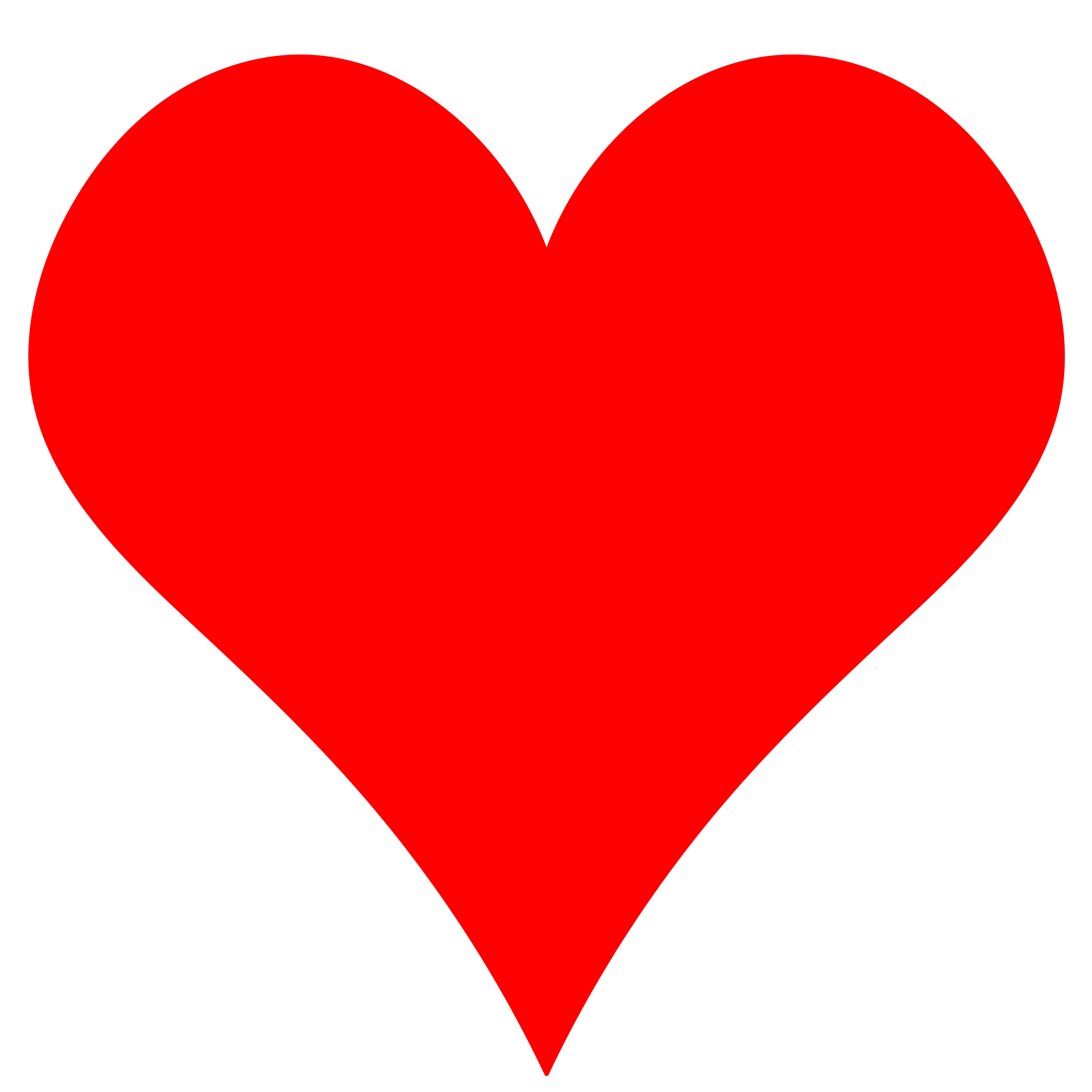 Red Heart Shape Clipart.