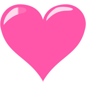 pink double heart clipart - Clipground