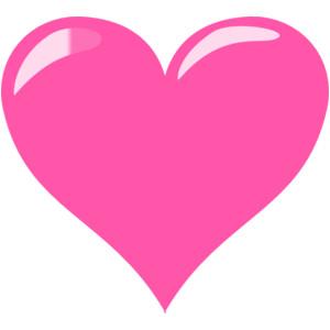 Heart shape clip art.