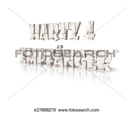 Stock Illustration of hartz 4 empf?nger 3d word k27898279.