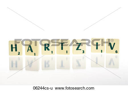 Stock Images of Scrabble tiles writing Hartz IV 06244cs.