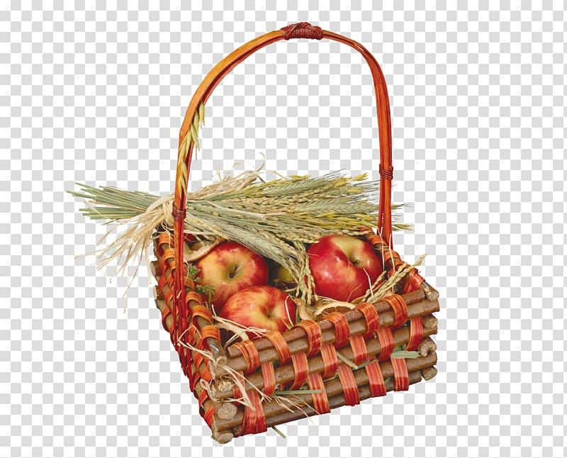 Fall harvest basket transparent background PNG clipart.
