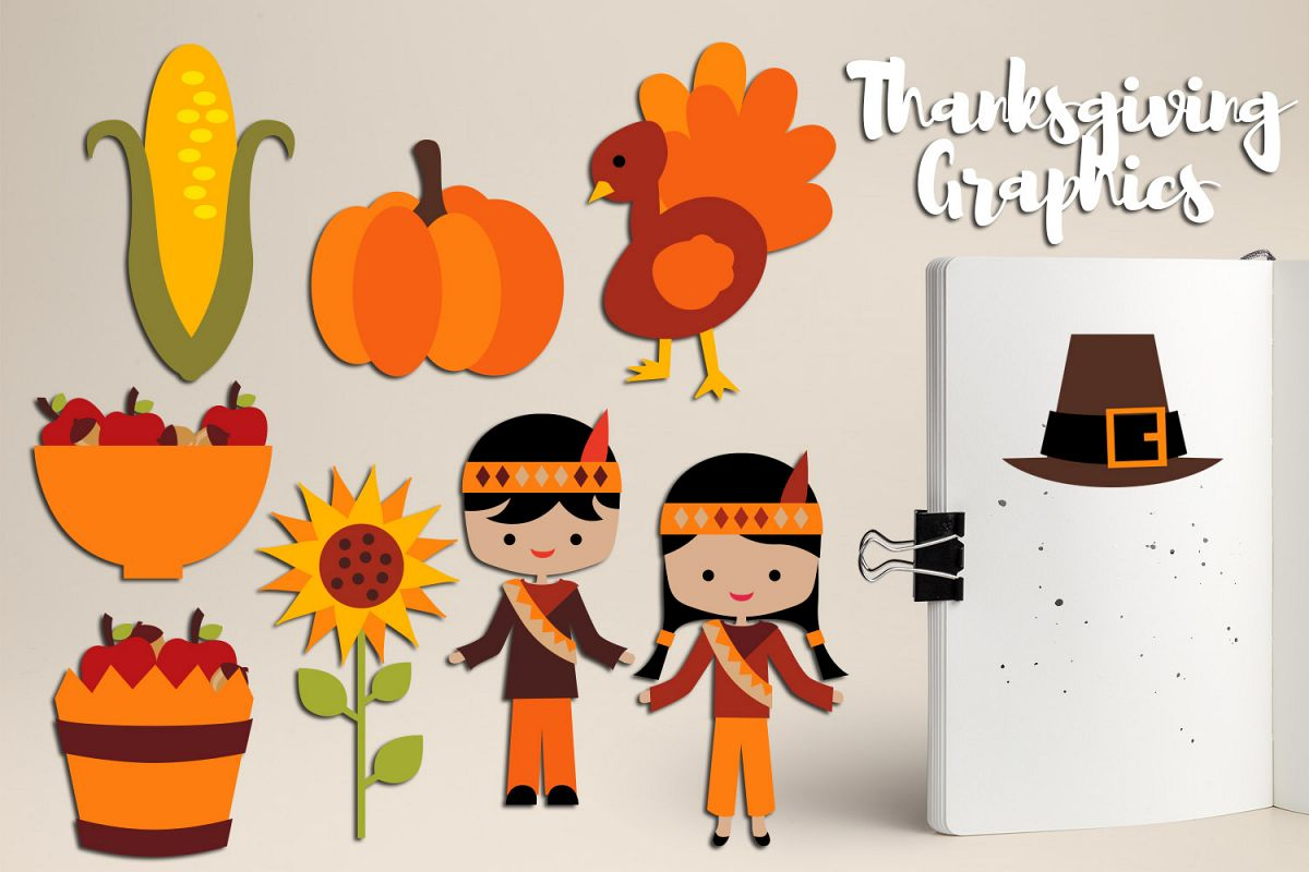 Thanksgiving Blessings, Harvest time clipart graphics.