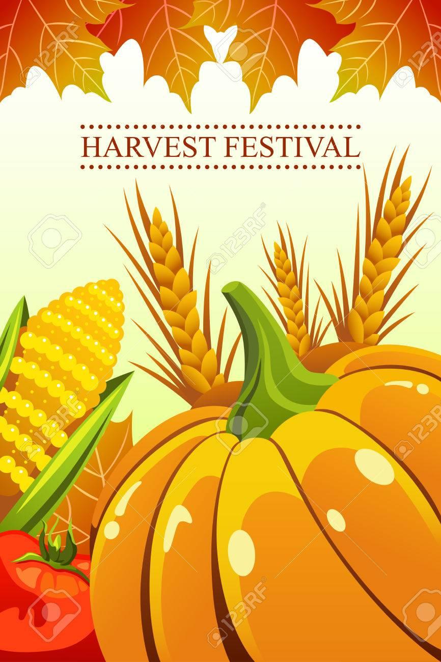 A vector illustration of harvest festival background.