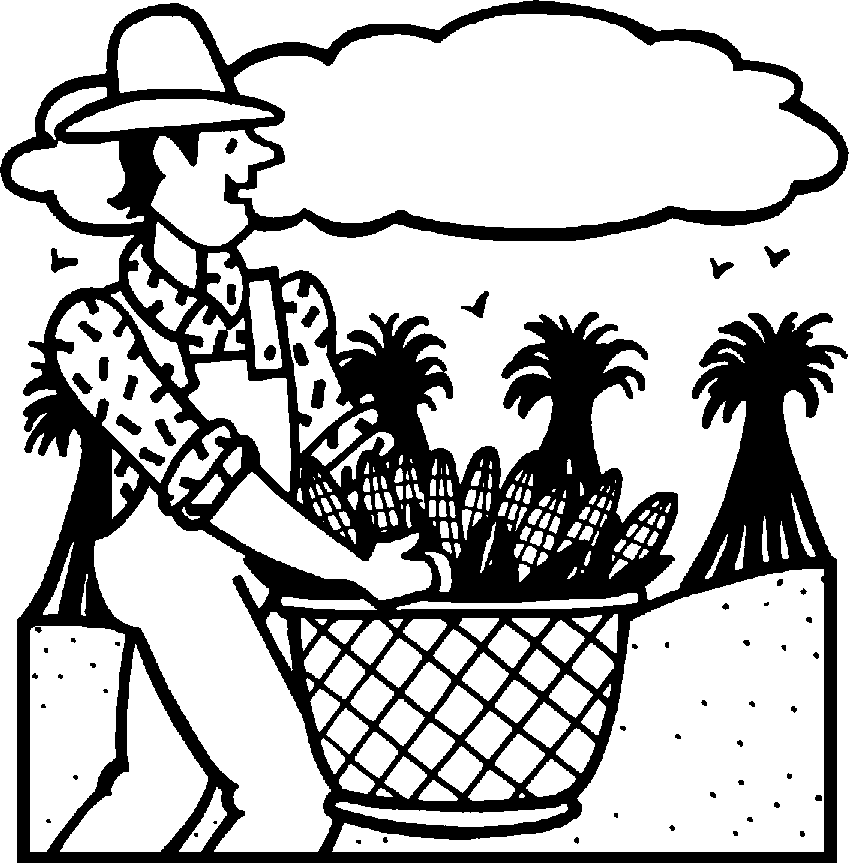 Harvest Black And White Clipart.