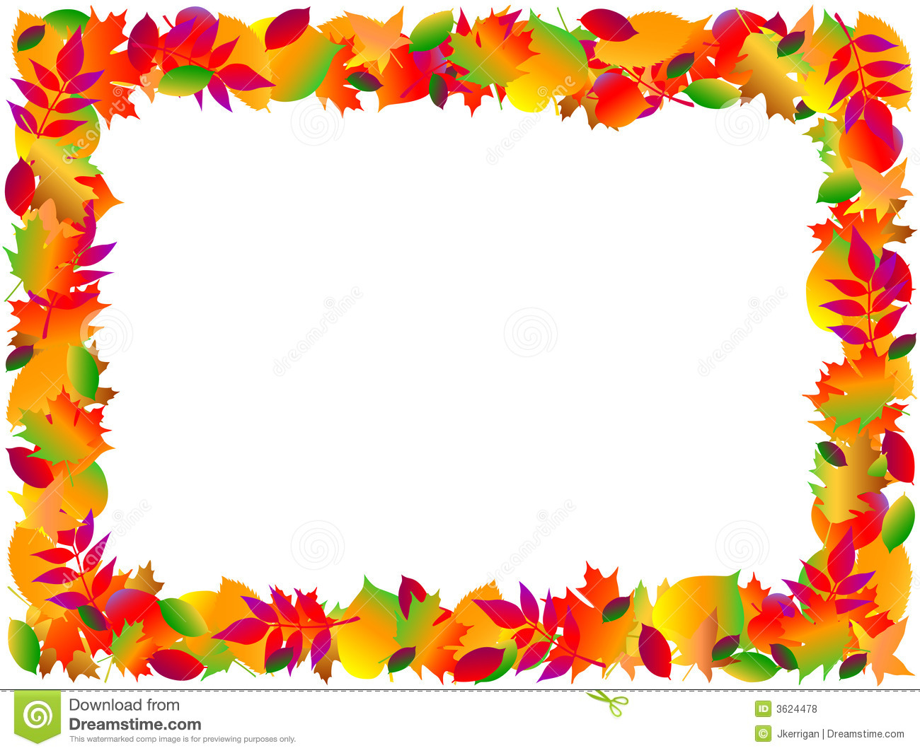 Fall Harvest Border Clipart.
