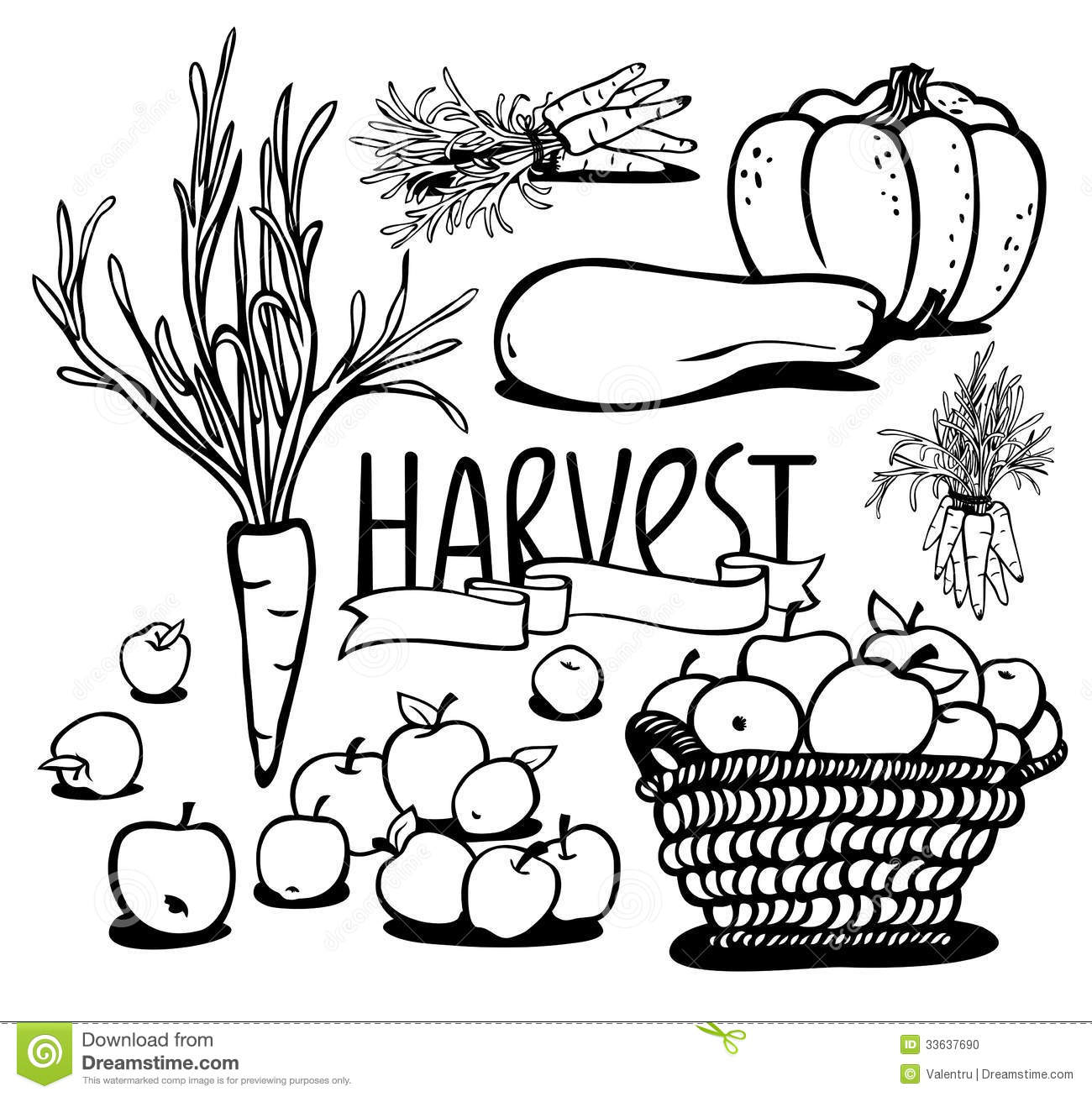 Harvest clipart black and white » Clipart Station.